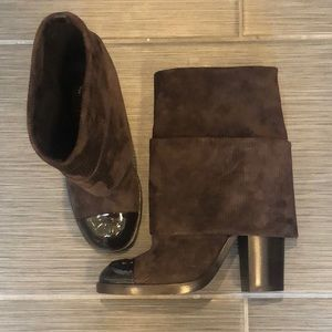 Chanel Brown Short Boots